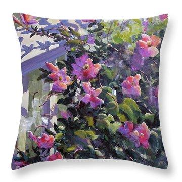 The Pink Morning Throw Pillow