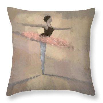 The Pink Tutu Throw Pillow
