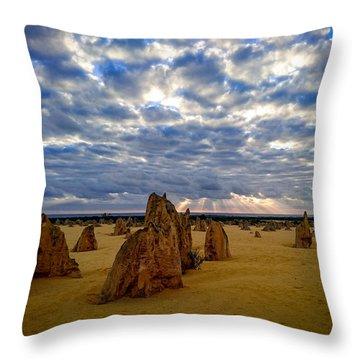 The Pinnacles Sunset Throw Pillow