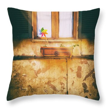 Throw Pillow featuring the photograph The Pinwheel by Silvia Ganora