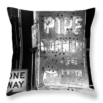 The Pipe Corner Throw Pillow