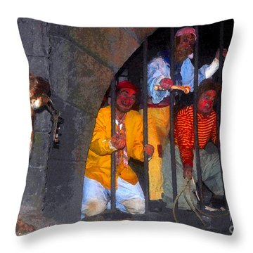 The Pirates Keeper Throw Pillow by David Lee Thompson
