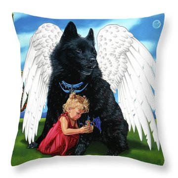 The Playmate Throw Pillow