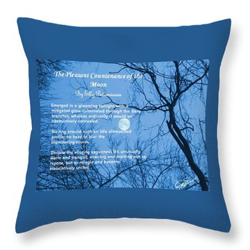 The Pleasant Countenance Of The Moon Throw Pillow