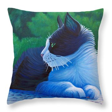 The Pleasure Of Her Company Throw Pillow by Brian  Commerford