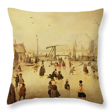 The Pleasures Of Winter Throw Pillow