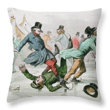 The Pleasures Of Winter Throw Pillow