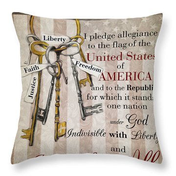 The Pledge Throw Pillow