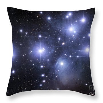 Throw Pillow featuring the photograph The Pleiades by Robert Gendler