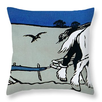 The Ploughman Throw Pillow