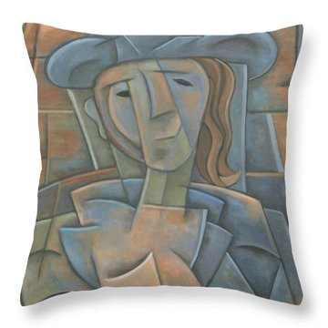 The Poet Throw Pillow by Trish Toro