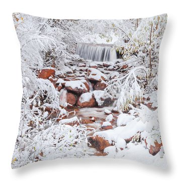 The Poetic Beauty Of Freshly Fallen Snow  Throw Pillow