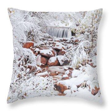 The Poetic Beauty Of Freshly Fallen Snow  Throw Pillow