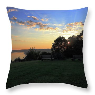 The Point At Sunrise Throw Pillow