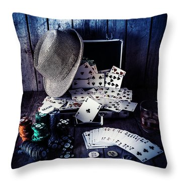 The Poker Ace Throw Pillow