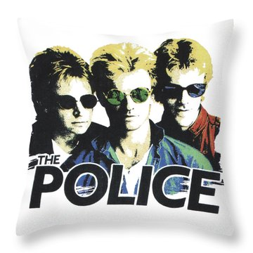 Throw Pillow featuring the digital art The Police by Gina Dsgn