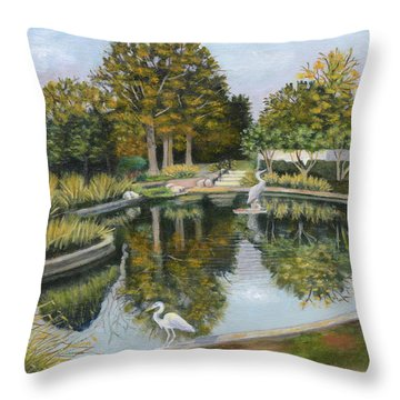 The Pond At Maple Grove Throw Pillow