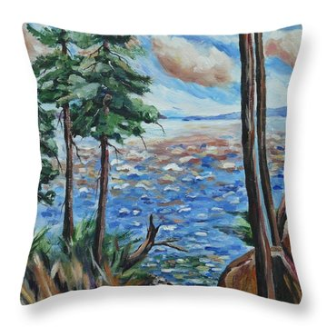 The Pond Throw Pillow by Heather Kertzer