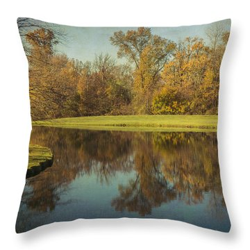 Throw Pillow featuring the photograph The Pond by Michael Colgate