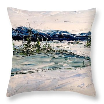 The Pond - Winter Throw Pillow