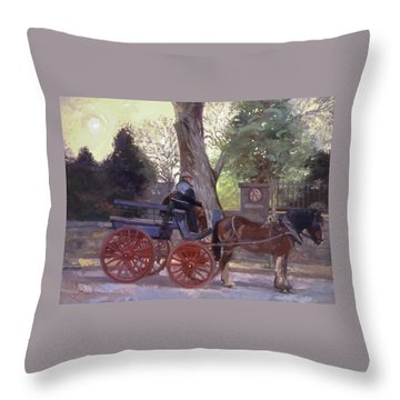 The Pony Trappe Throw Pillow