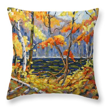 The Pool After Thompson By Prankearts Throw Pillow by Richard T Pranke