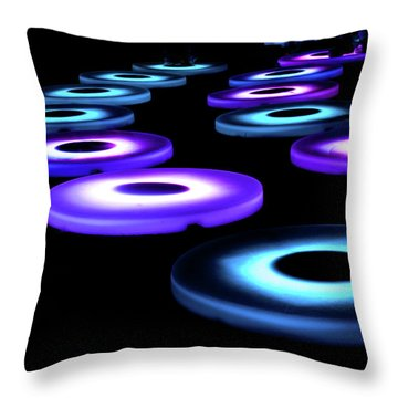 Throw Pillow featuring the photograph The Pool Circles by Mark Dodd
