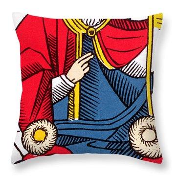 The Pope Tarot Card Throw Pillow
