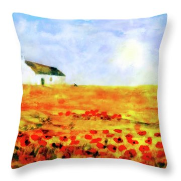 The Poppy Picker Throw Pillow