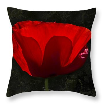 The Poppy Throw Pillow by Svetlana Sewell