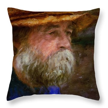 The Portrait Of A Man Throw Pillow