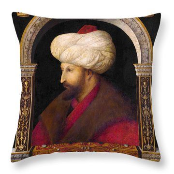 The Portrait Of Ottoman Sultan Mehmed The Conqueror Throw Pillow