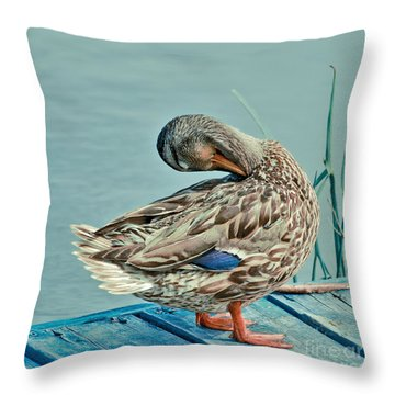 The Pose Throw Pillow by Aimelle