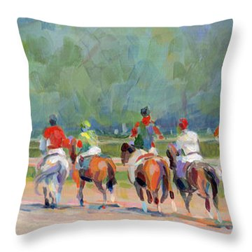 The Post Parade Throw Pillow