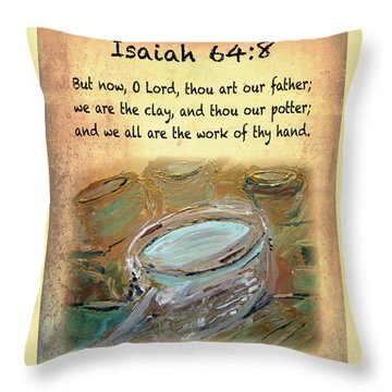 The Potter Bible Verses Throw Pillow