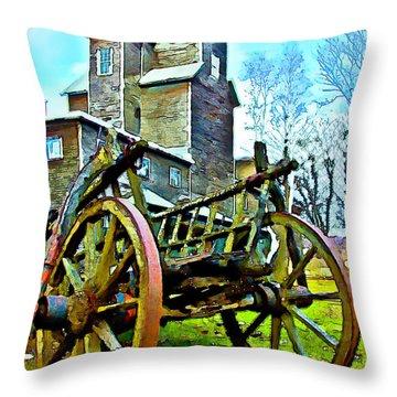 The Pottery - Bennington, Vt Throw Pillow