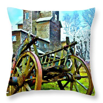 The Pottery - Bennington, Vt Throw Pillow