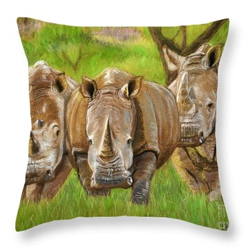 The Power In Three Throw Pillow