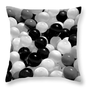 The Power Of Black And White Throw Pillow by Carol F Austin
