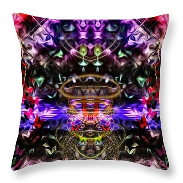 The Power Of Butterfly Lake Throw Pillow