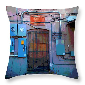 The Power Of City Throw Pillow