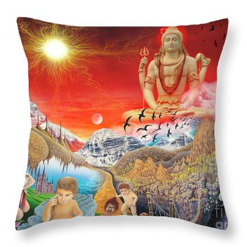 The Power Of Different Gods Throw Pillow