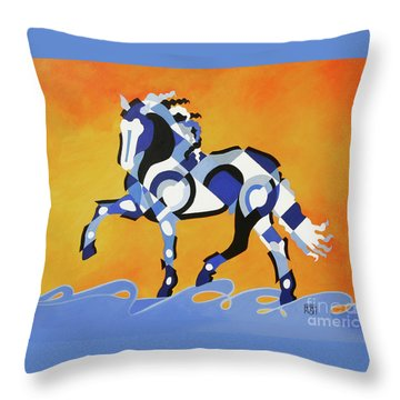 The Power Of Equus Throw Pillow