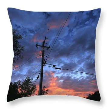 Throw Pillow featuring the photograph The Power Of Sunset by Sean Sarsfield