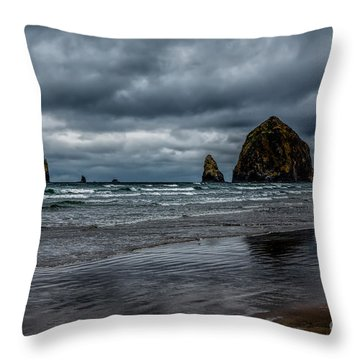 The Power Of The Sea Throw Pillow by Jon Burch Photography