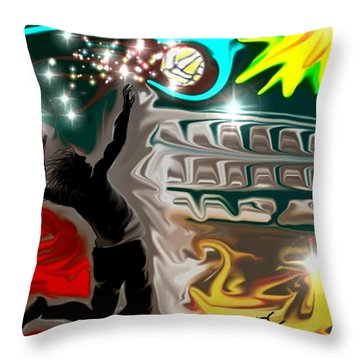 The Power Of Volleyball Throw Pillow