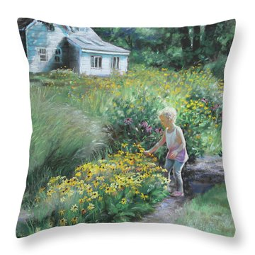 The Prairie Garden Throw Pillow