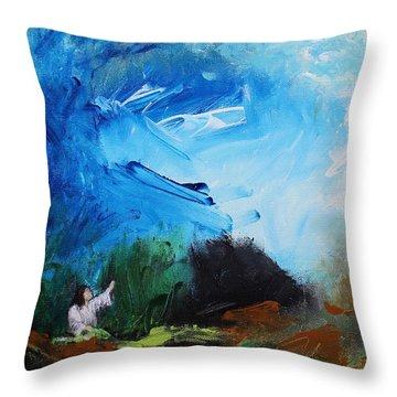 The Prayer In The Garden Throw Pillow