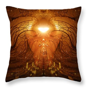 Throw Pillow featuring the photograph The Prayer by Jalai Lama