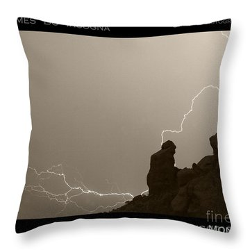 The Praying Monk Camelback Mountain Throw Pillow by James BO  Insogna